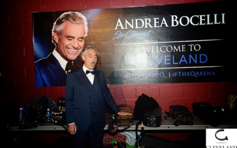 Andrea Bocelli with Cleveland Pops at Quicken loans arena by Cleveland Photo group